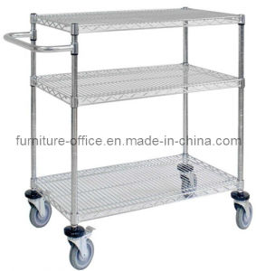 3 Layers Mobile Wire Shelving pictures & photos