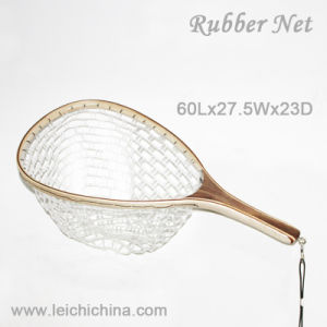Wooden Rubber Fly Fishing Landing Net pictures & photos