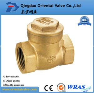 "1-1/4"" Inch Durable Professional Low Price Brass Spring Check Valve Brass Non High Quality pictures & photos"