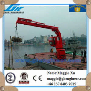 1t8m Knuckle and Telescopic Boom Crane pictures & photos