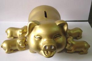 Money Bank, Golden Piggy Coin Bank (PB0612G)