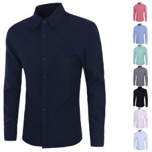Custom Men′s Chest Pocket Slim Fit Black Dress Shirts (A429)