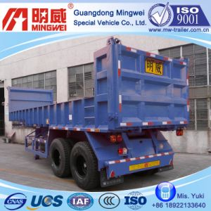 12 Cbm/9m/CCC/ISO/2 Axles Box-Type-Low-Wall Tipper Semi Trailer