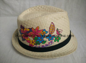 100% Paper with Embroider Fedora Hats