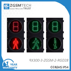 Two Colors LED Traffic Signal with 1 Digital Countdown Timer
