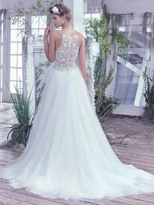 Lace Bridal Gown Tulle Spaghetti Straps Beach Wedding Dress S17131 pictures & photos