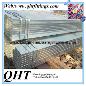 Gi Rectangular and Square Steel Pipe on Stock pictures & photos