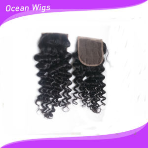 "3.5*4"" Silk Top Lace Jerry Curl Brazilian Virgin Remy Hair pictures & photos"