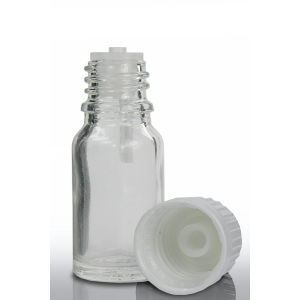 15 Ml Clear Glass Dropper Bottles with Lotion Pump
