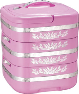 3 Layers Stainless Steel Food Container/Plastic Food Warmer Container pictures & photos