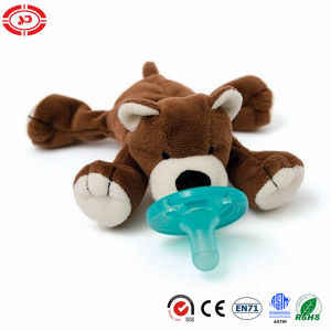 Baby Pacifier Brown Plush Soft Bear Cute Toy for Baby pictures & photos