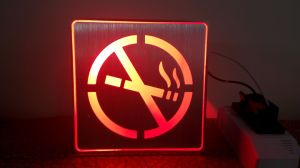 No Smoking LED Sign Emergency Light Exit Light Rechargeable LED pictures & photos