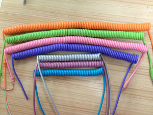 New Arrival Customized Colorful Spiral Cable