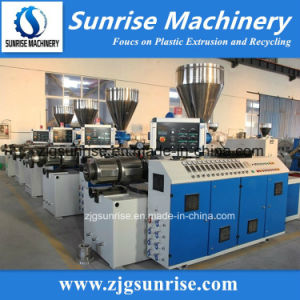 PVC Conical Twin Screw Extruder / Plastic Extruder pictures & photos