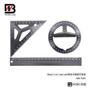 2016 Flat Ruler and Protactor Stationery Geomery Set