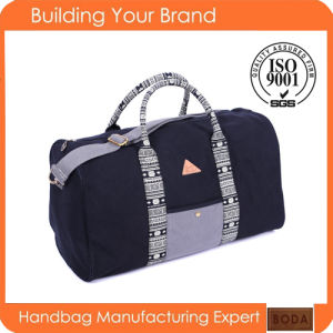 Fashion Wholesale Black Canvas Travel Bag pictures & photos