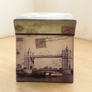 Multifunctional Non-Woven Storage Box Creative Storage Box Folding Stool pictures & photos