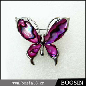 Purple Butterfly Rhinestone Brooch in Alloy Material #5251 pictures & photos