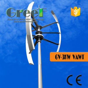 3kw Vertical Axis Wind Generator with Contoller and Inverter pictures & photos