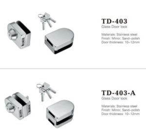 High Quality Stainless Steel Glass Door Lock (TD-403-A) pictures & photos
