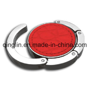 Custom Leather Cover Circle Shape Metal Hangbag Hanger (QL-GBQ-0032) pictures & photos