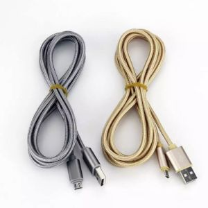 High Speed 2.4A Nylon Braided Charging Data Micro USB Cable pictures & photos