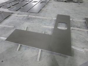 Gray Silver Quartz Stone Countertops for Kitchen, Bathroom pictures & photos