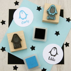 Color Plastic Handle Toy Inking Rubber Stamp for Children pictures & photos