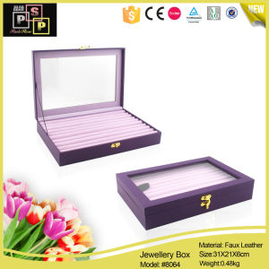 Large-Capacity Useful Leather Jewelry Display Box (8064) pictures & photos