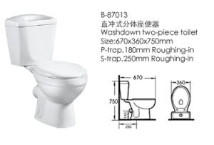 High Quality Sanitary Ware Washdown Toilet (87013) pictures & photos
