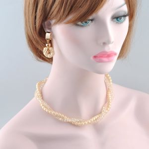 Fashion Gift Pearl and Crystal Jewelry Necklace Set for Spring Summer Season pictures & photos