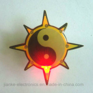 Promotion LED Flashing Name Badge with Logo Printed (3161) pictures & photos