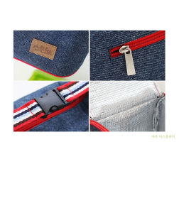 Blue Jeans Handle Ice Bag with Zipper Closed pictures & photos