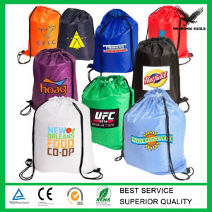 Nylon Mesh Drawstring Bag with Your Logo Printing pictures & photos