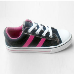 Classic Style Kids Shoelace Canvas Shoes Skate Shoes (HH1613-15) pictures & photos