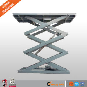 1-20m Height Vertical Stationary Cargo Scissor Lift Equipment with Pit pictures & photos
