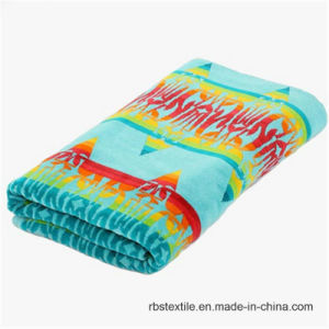 Competitive Jacquard Velour Yarn Dyed Beach Towel pictures & photos