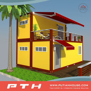 Luxury Two-Stories Prefab Container House for Hotel/Apartment pictures & photos