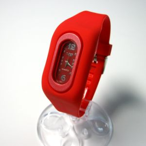 Eco-Friendly Silicone Quartz Wrist Watch for Promotion pictures & photos
