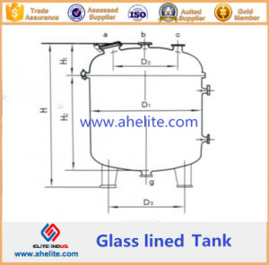 Vertical Glass Lined Storage Tank pictures & photos