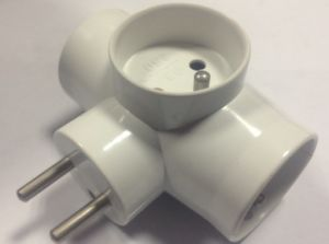European Socket Adapter Adaptor ABS Plug (Rj-3132) pictures & photos