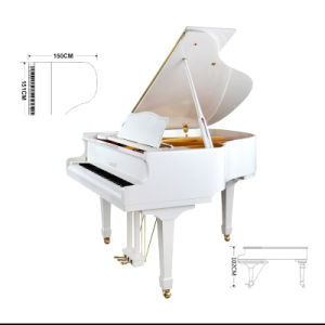 White Grand Piano for Sale 150cm pictures & photos
