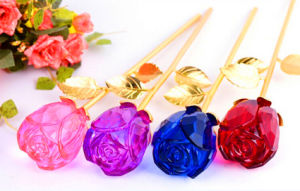 Colourful Crystal Rose Flower as Christmas Gift (KS25102) pictures & photos