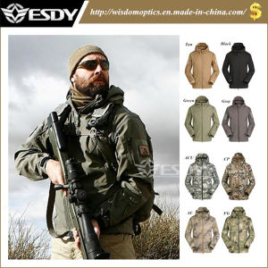 19-Colors Camo Hoodie Army Uniform Hunting Softshell Waterproof Military Jacket pictures & photos