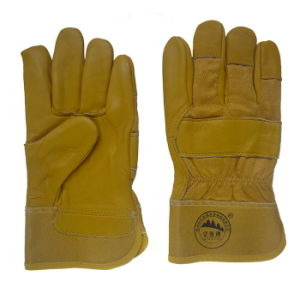 Cow Grain Leather Gloves for Driving pictures & photos