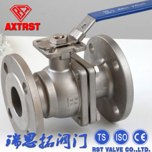 ISO5211 Flange JIS 10k Stainless Steel 2PC Floating Ball Valve pictures & photos