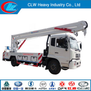 Dongfeng 4X2 High Platform Truck with Crane for Sale pictures & photos