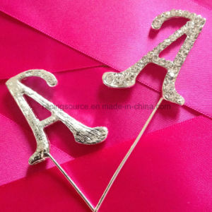 Rhinestone Monogram Letter a to Z Wedding Cake Topper pictures & photos