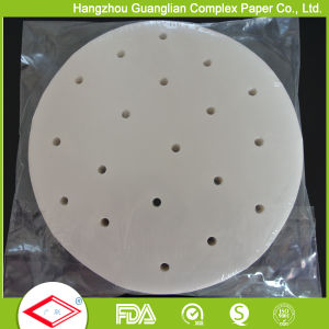Siliconised Steaming Paper for Resturant Bamboo Steamer Use pictures & photos