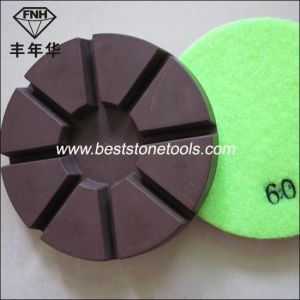 Cr-12 Resin Copper Metal Bond Diamond Polishing Pad 8 Pie pictures & photos